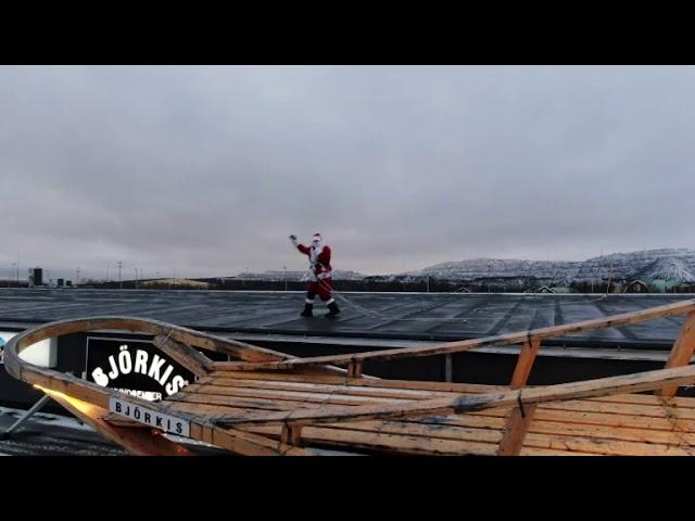 Björkis-Tomtens julhälsning från Kiruna 2018